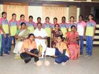 Hand ball team-Bharathiar University Inter Collegiate Level