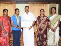 National &All India Inter University level-SHOOTING champion- N.KEERTHANA II B.A English